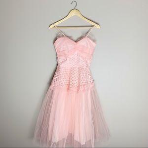 Vintage 1950s tulle dress with matching bolero